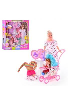 Лялька DEFA 8049 коляска, кор., 34 см