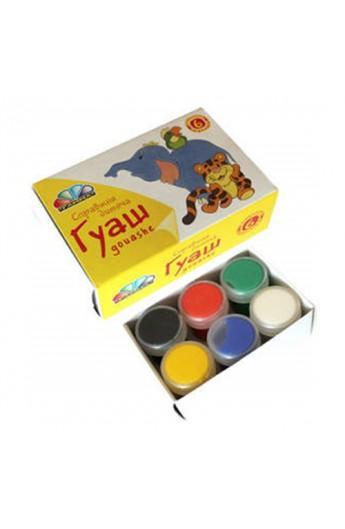 Фарби  гуашеві  6кол.60мл (10мл), Улюблені іграшки (221031), Гамма