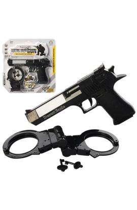 Набір військового HY076 пістолет,  лазер, наручники, муз., світло, бат., бліст., 25-26-3 см.