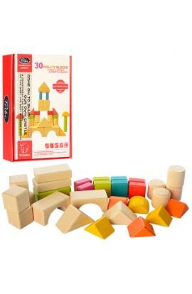 Дерев'яна іграшка  Містечко 496-A002 30 дет., кор., 14-19-3,5 см.
