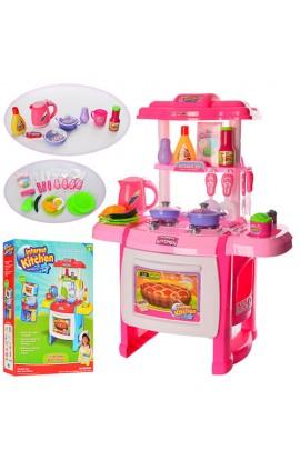 Кухня WD-A22-B22 плита, духовка, посуд, продукти, 2 види, світло, муз., бат., кор., 59,5-43,5-9,5 см