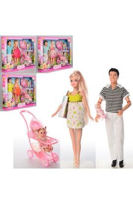Лялька DEFA 8088 вагітна, KEN, пупс 2 шт., коляска, аксесуари, кор., 41-34-6,5 см.