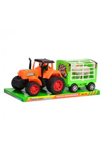 Трактор 906-102 причеп, тварини, бліст., 31 см