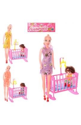Лялька 339-2, 2 шт., кроватка