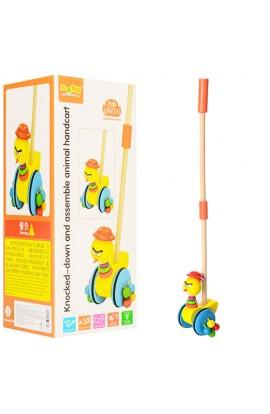 Дерев'яна іграшка Каталка MD 1001 ціпок, каченя, кор., 29-11,5-11,5 см.