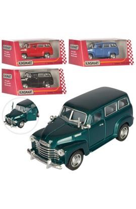 Машинка KT 5006 W мет., інерц., гумові колеса, відчин. двері, 4 кольори, кор., 16-7-8 см.