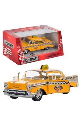 Машинка KT 5360 W мет., інерц., таксі, гумові колеса, відчин. двері, кор., 16-7-8 см.