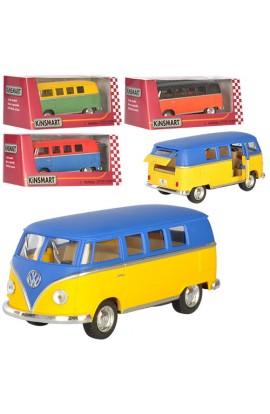 Машинка KT5060WM мет., інерц., мікроавтобус, гумові колеса, 4 кольори, кор., 16-7-8 см.