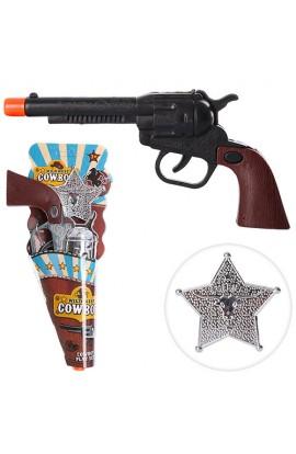 Набір ковбоя HY790-790A пістолет, значок, 2 види, лист, 21-10-2,5 см.