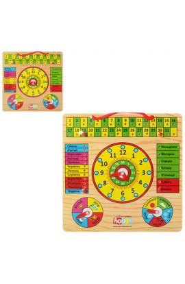Дерев'яна іграшка Годинник MD 0004 U/R календар