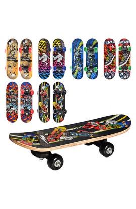 Скейт MS 0324-1 6 видів, ПВХ колеса 45 мм, пласт.підвіска, 43-13-8 см
