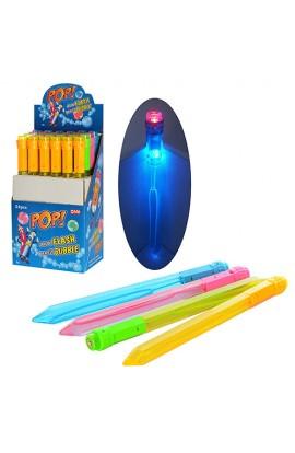 Мильні бульбашк M 2715 меч, 37,5 см, світло, 4 кольори, 24 шт. в диспл., 22,5-38-15,5 см