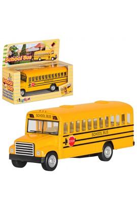 Машинка KS 5107 W інерц., мет., шкільний автобус, відкр. двері, кор., 14-11,5-5 см
