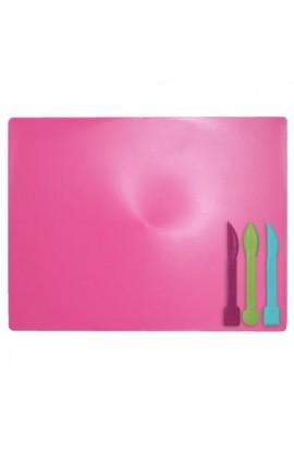 /Дощечка для пластиліна, 3 стека, розовий