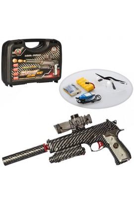 Пістолет HD2B акум., водяні кулі, окуляри, USB зарядне, валіза, 31-21-7 см.