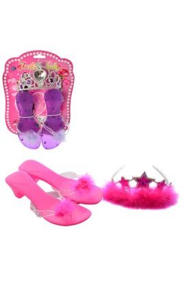 Набір аксесуарів 802-4-5 туфлі, корона, 2 види, лист, 19-28-4 см.