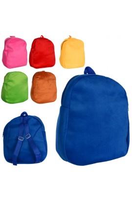 Рюкзак MP 1246 розмір середній, 1 відділення, застібки-блискавки, 6 кольорів, кул., 30-34-1,5 см.