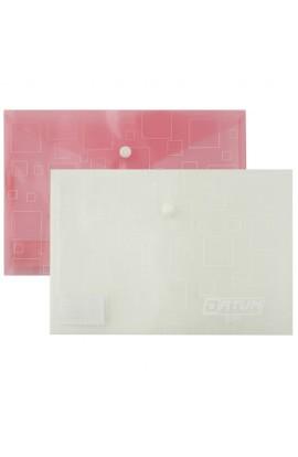 Папка с кнопкой А5 прозрачная D1965 (mix) (12)
