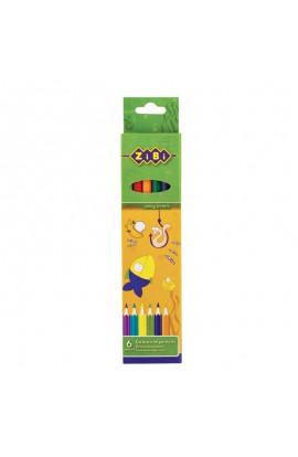 Олівці кольорові 6 кольорів