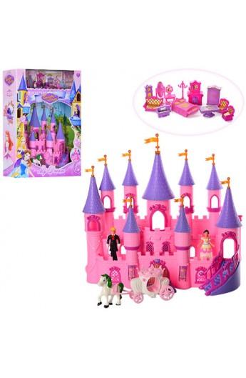 Замок SG-2976 принцеси, карета, меблі, фігурки, муз., світло, бат., кор., 9-49,5-13 см.