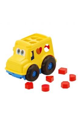 """Автобус -сортер  """"Бусик """" №1: автобус з вкладишами COLORPLAST 0244"""