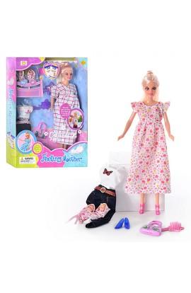Лялька DEFA 8009 вагітна, одяг, кор., 32,5 см