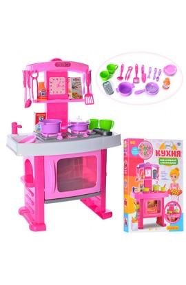 Кухня 661-51 плита, посуд, годинник, муз., світло, бат., кор., 63 см