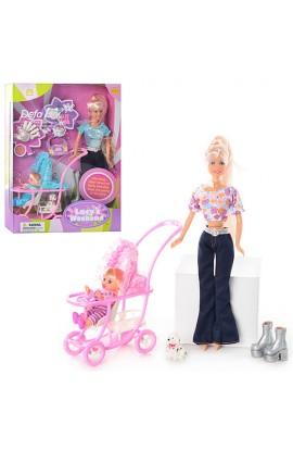 Лялька DEFA 20958 з коляскою, кор., 34 см