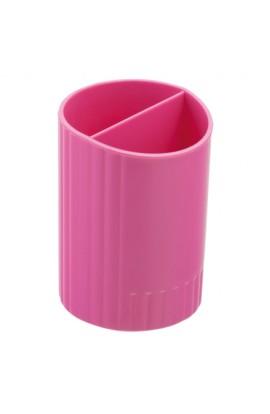 /Стакан для ручек круглий на два відділення, рожевий
