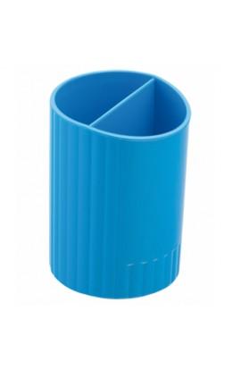 /Стакан для ручек круглий на два відділення, синій