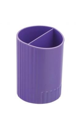 /Стакан для ручек круглий на два відділення, фіолетовий