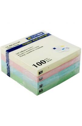Блок для нотаток 76х76мм, 100арк., асорті