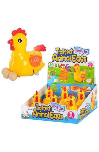 Курка 289-1 заводна, несе яйця, 6 шт. в диспл., 29-27-13 см
