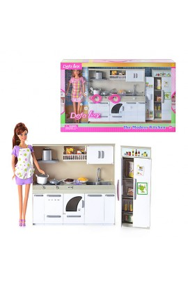 Лялька DEFA 6085 кухня, світло, кор., 50 см