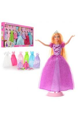Лялька з вбранням DEFA 8266, плаття 8 шт., взуття, аксесуари,  2 види, кор., 66,5-35-6 см