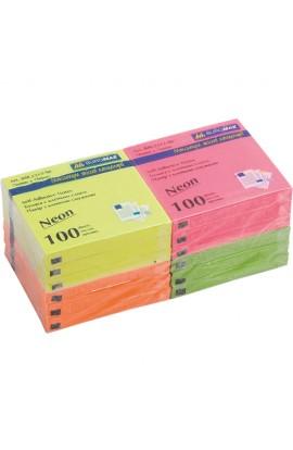 Блок для нотаток NEON 76х76мм, 100арк., асорті