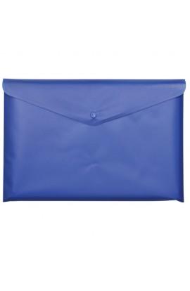 Папка-конверт А5 на кнопці, JOBMAX, непрозора, синя