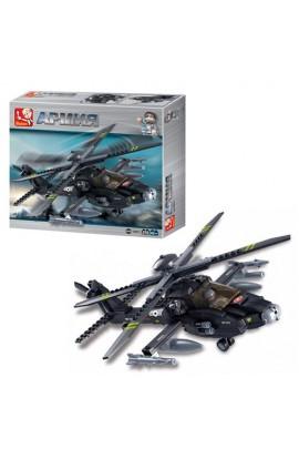 """Конструктор SLUBAN M38-B0511  """"Армія """": військовий гелікоптер, фігурка, 293 дет."""