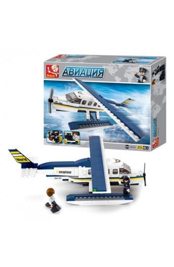 """Конструктор SLUBAN M38-B0361  """"Авіація """": літак, фігурки, 214 дет."""