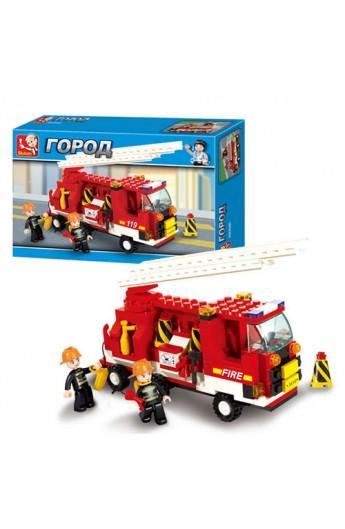 Конструктор SLUBAN M38-B3000 пожежна машина, 175 дет., кор., 29-18,5-5 см