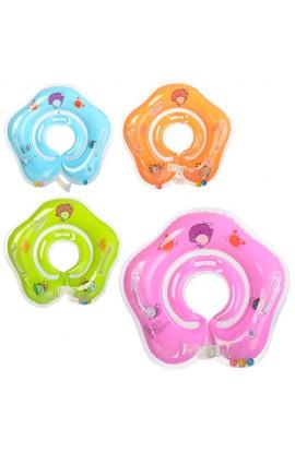 Коло R1-2 для купання дітей, 40 см., застібка, ручки, 4 кольори, кул., 16-14-2 см.