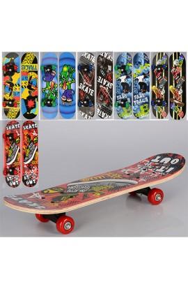 Скейт MS 0323-3 60-15 см., пласт. підвіска, колеса ПВХ, 6 видів, кул.