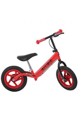 Беговел PROFI KIDS дитячий M 3436AB-3 12'' колеса гума, гальмо, підніжка, червоний.