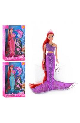 Лялька DEFA 8230 русалка, 3 кольори, аксесуари, муз., світло, кор., 33,5-20,5-5,5 см