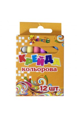 Крейда кольорова кругла 12кол. (діам.0,9см) 8051-12 Little Artist