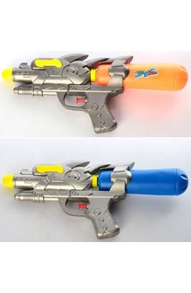Водяний пістолет M 2549 розмір середній, 2 кольори, кул., 30,5-13-5,5 см.