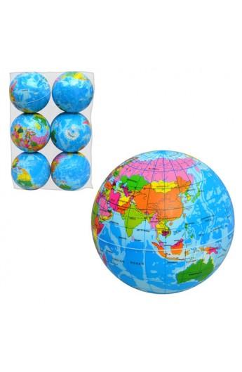 М'яч дитячий фомовий-4  MS 0241 глобус