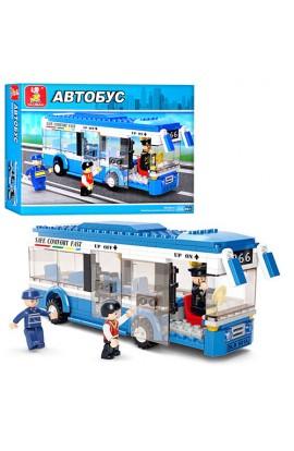 Конструктор SLUBAN M38-B0330 автобус, фігурки, 235дет., кор., 28,5-24-5 см