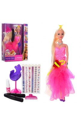 Лялька 66841 лялька, фарба для волосся, стілець, аксес., бліст, 32,5-25,5-6,5 см.