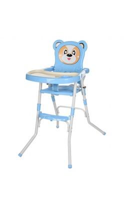 Стільчик 113-4 для годування, 2 в 1, ремінь безпеки, регул. столик, синій